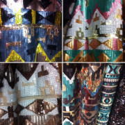 sequin tribal fabric options