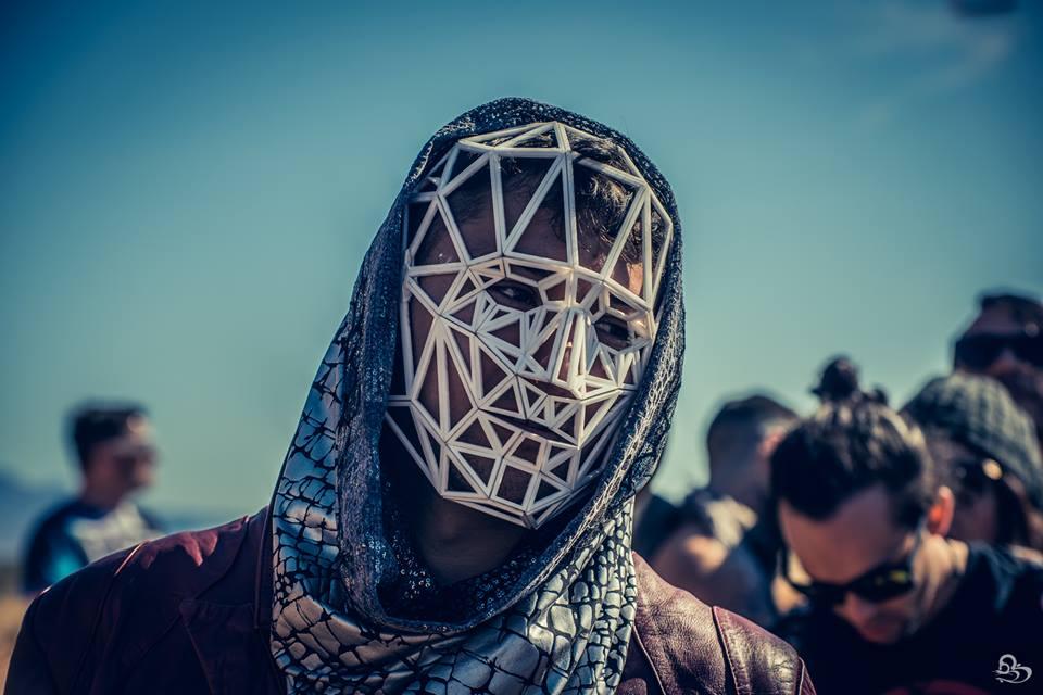 Adam Rei Seigal wears a Max Steiner mask and Stardust Love hood