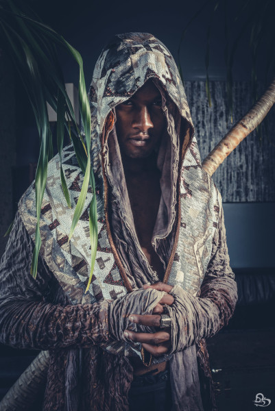 men's tribal festival hood