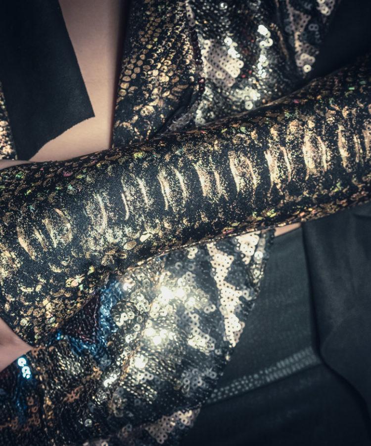 Bronze Reptile Print Sleeves