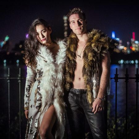 Men's and Women's Sequin Fur Coats