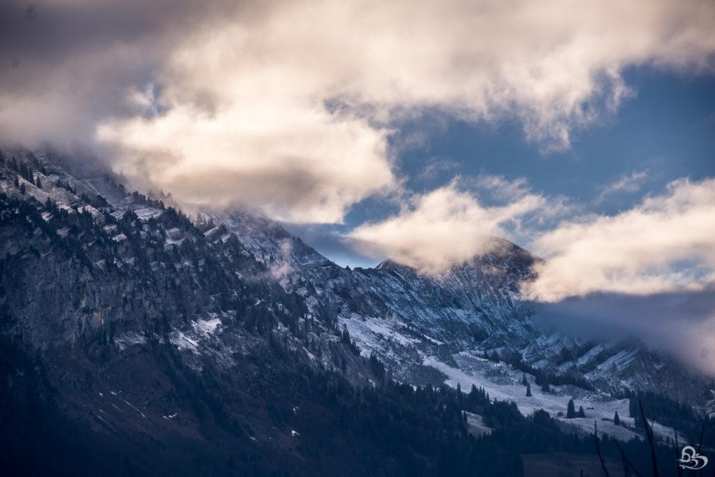 swiss mountain snow winter photo