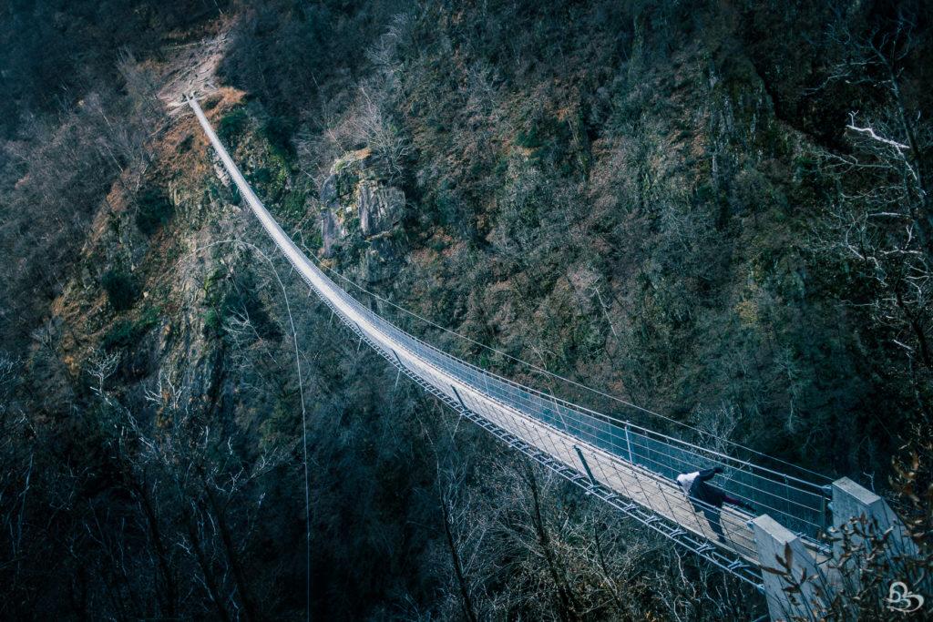 Ponte Tibetano suspension bridge Photo Switzerland Ticino