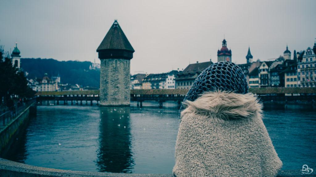 Luzern Switzerland Chapel Bridge Photo