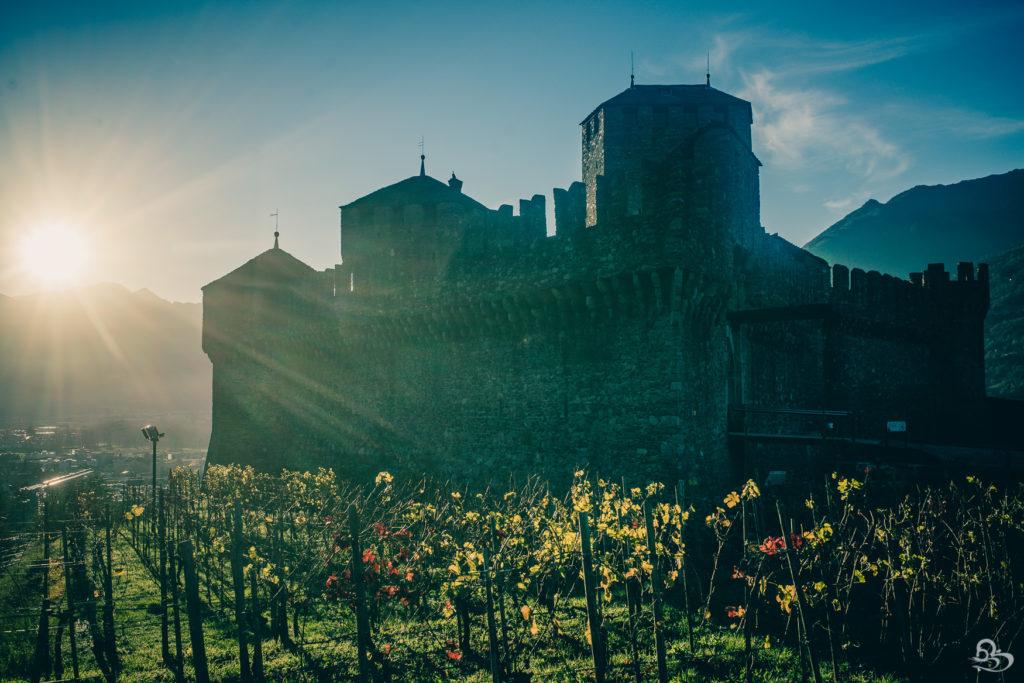 bellinzona castle photo fall