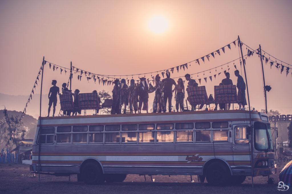 bus dancing at sunrise wonderfruit festival pattaya