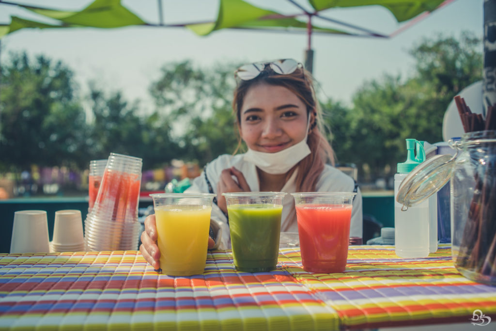 fresh juice at wonderfruit festival pattaya