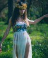 sequin fringe festival dress