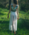 tribal goddess hippie bohemian dress fringe sequins