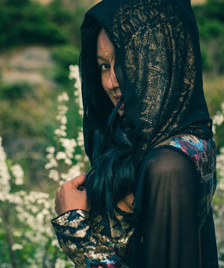 cosplay black maxi sequin dress festival fashion
