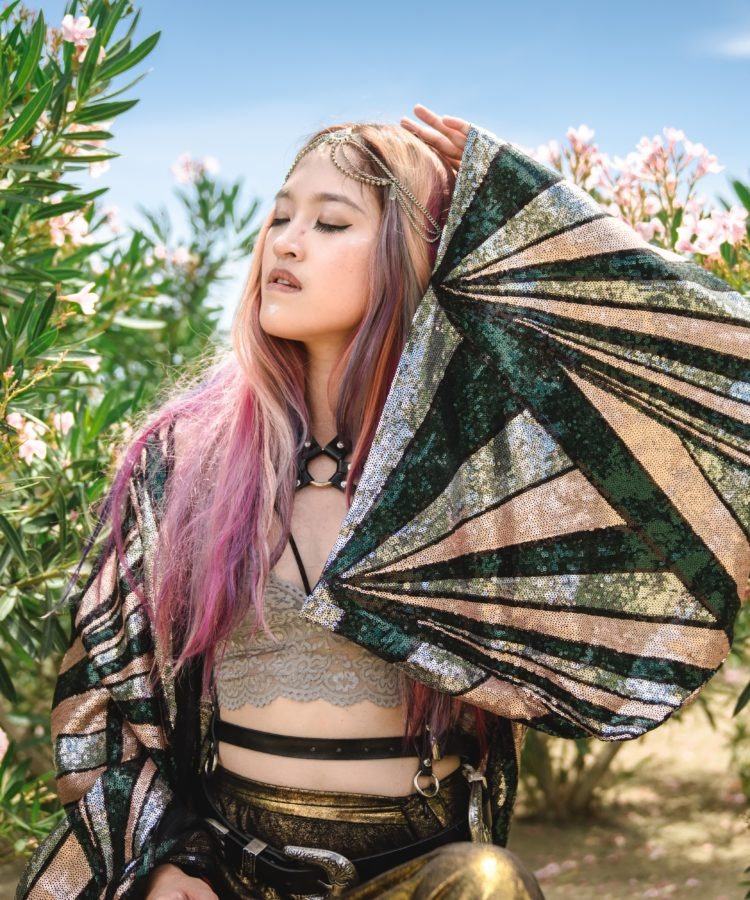 sequin kimono big sleeves festival fashion