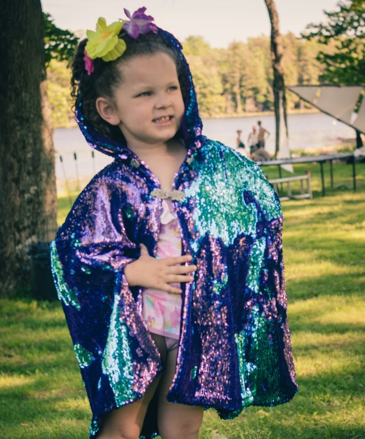 kid's sequin festival costume