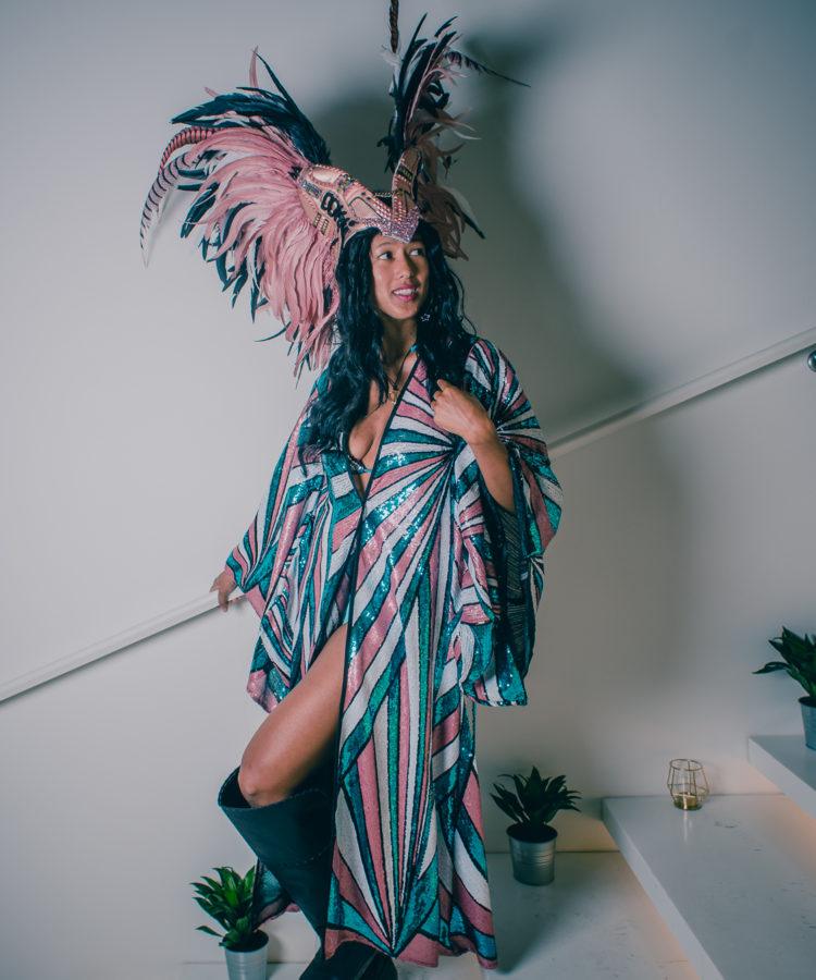 sequin kimono festival costume