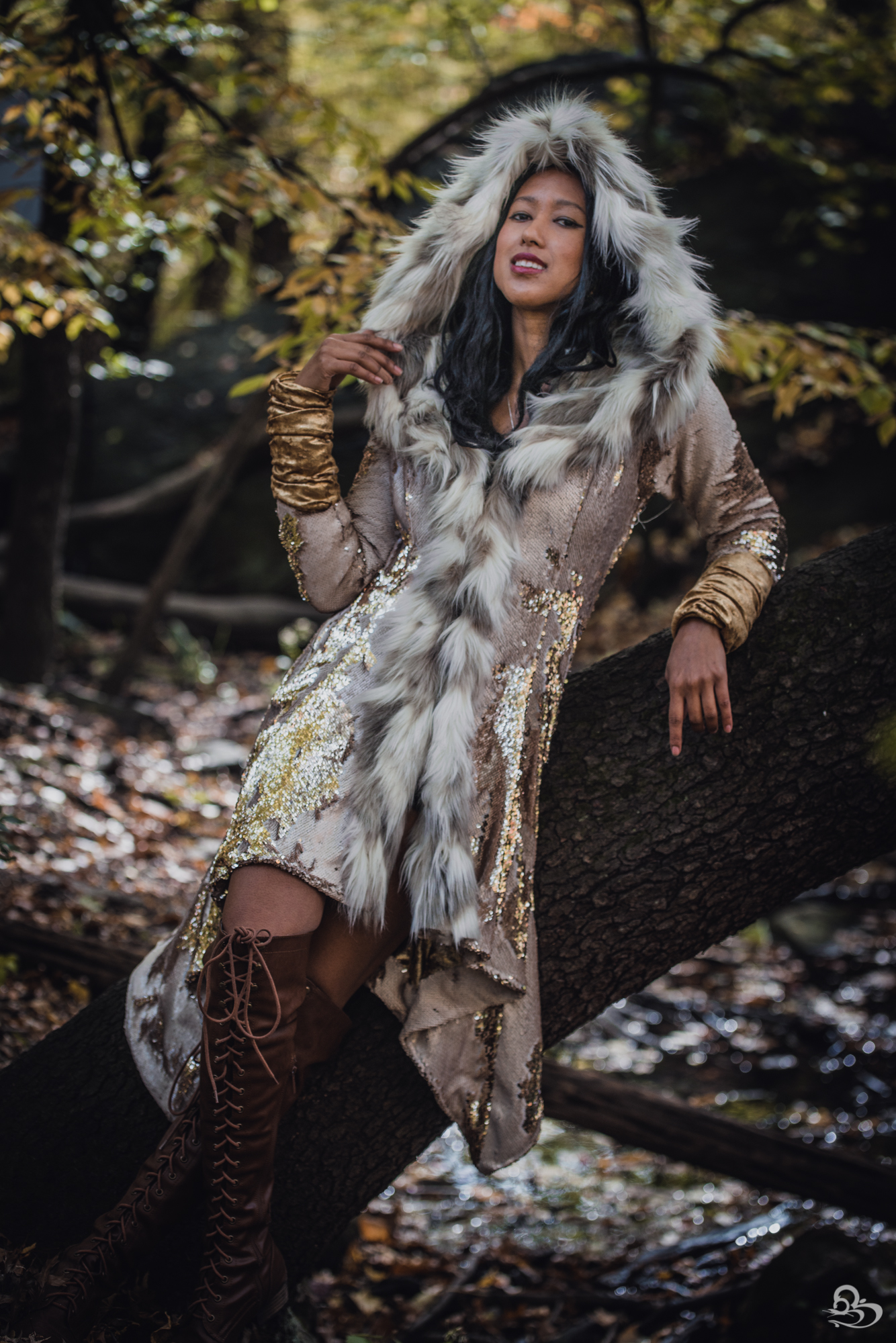 sequin goddess winter coat